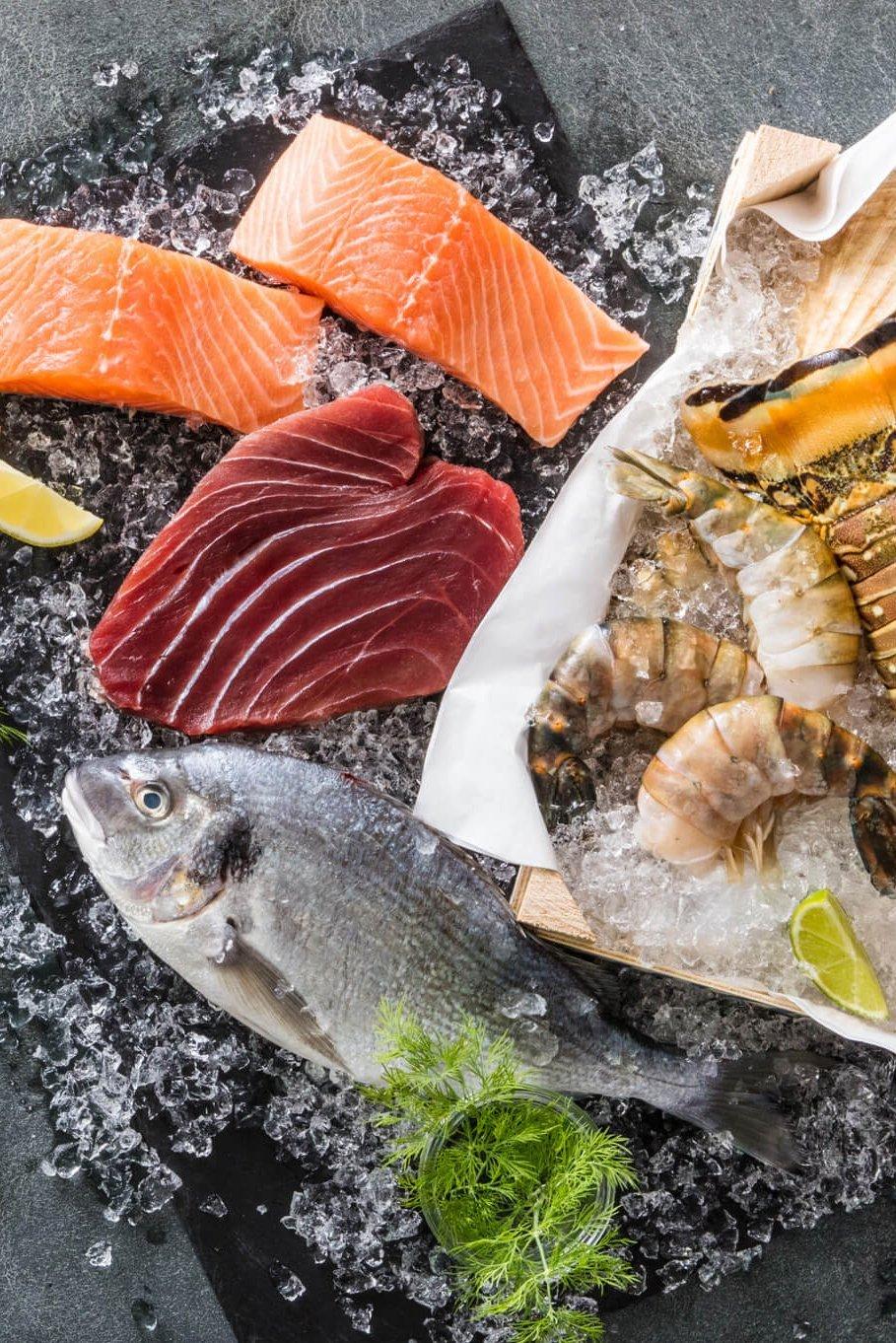 Beim Frischfisch Meeresbuffet von NORDSEE findest Du eine große Auswahl von frischen Fischprodukten